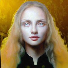 Maria Kreyn - Self Portrait. 12 x 12 inch. Oil on plexiglass. 2014.