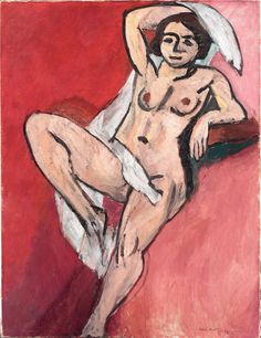 Henri Matisse, Nude with a White Scarf, 1909, oil on canvas, 45 7/8 x 35 1/16 inches,The Metropolitan Museum of Art - Selected Highlights