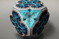 Diese digitalen Fabergé Fraktale sind echte geometrische Wunderwerke | Fabergé Fractals by English artist Tom Beddard