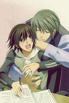 Misaki and Usagi-junjuo romantica i love them And i think junjou romantica is the best yaoi in the history of yaoi Me Anime, Anime Love, Anime Guys, Manga Anime, Miyagi, Sasunaru, Junjou Romantica Misaki, Usagi San, Manhwa