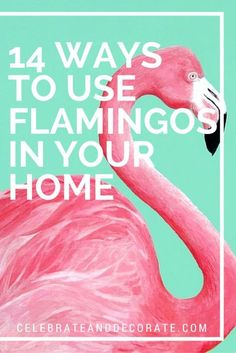 14 Fun Ways to Use Flamingos in Your Home -- love them all!!!