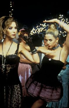 """""""Romy & Michelle's High School Reunion""""--hysterical farcical romantic comedy about two whacky chicks going to their high school reunion (1980s-era class) with superb cast; Lisa Kudrow, Mira Sorvino, Janeane Garofalo, Alan Cumming, Camryn Manheim, Justin Theroux. Written by Robin Schiff (play & screenplay.)"""