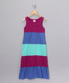 Take a look at this Maroon Stripe Maxi Dress - Girls by Play It Right: Kids' Apparel on #zulily today!