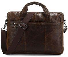 Leather Laptop Messenger Bag Portfolio