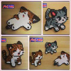 Chibi cats hama perler beads by pixland