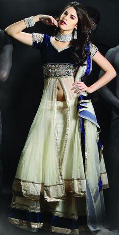 Buttercream Net #Sharara Lehenga Choli | Designer Wedding Wear  @Saree Galaxy