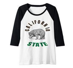 Raglan Baseball Tee, Branded T Shirts, Fashion Brands, Topshop, California, Bear, Amazon, Mens Tops, Stuff To Buy