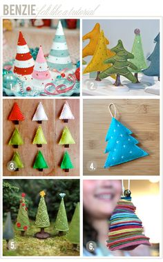 Benzie: A fanfare of felt.: Felt like a tutorial: Christmas Trees