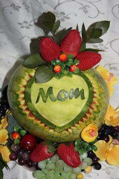 647-271-7971 Fruit Carvings, Fruit Arrangements, Fruit Art, Watermelon, Creativity, Nature, Food, Foods, Meal