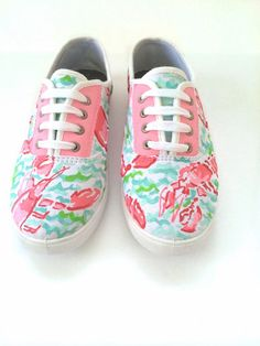 Lilly Pulitzer sneaker shoes in Lobstah Roll by CraftyPrepster, $49.00