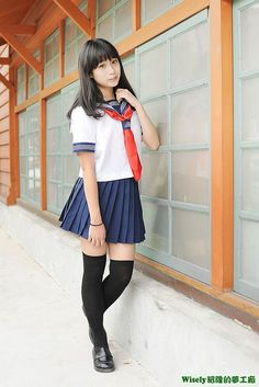 School Uniform Fashion, Japanese School Uniform, School Girl Outfit, School Uniform Girls, Girls Uniforms, Japanese Fashion, Japanese Girl, School Girl Japan, Cosplay Anime
