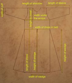 Viking dress, tunic or trousers