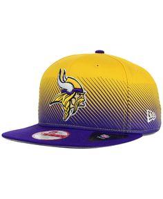Minnesota Vikings New Era NFL Line Fade 9FIFTY Snapback Cap Hats Nfl Lines 03da32dec0922