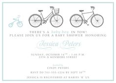 Its a girl pink coasters set of 4 three bicycles baby shower invitation printablediy 1500 via etsy filmwisefo