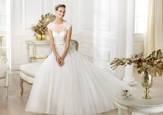 Ball Gown Wedding Dresses : Pronovias presents the Lianna wedding dress. Pronovias Wedding Dress, Wedding Dresses 2014, Wedding Dress Chiffon, Wedding Dresses Plus Size, Bridal Dresses, Wedding Gowns, Bridesmaid Dresses, Ivory Wedding, Dresses 2013