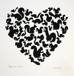 squirrel love print, Oh Kathy, this is for you!