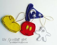 A couple of really cute different kinds of Mickey ornaments.