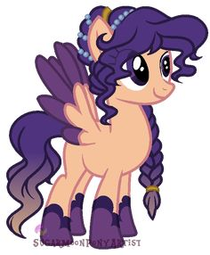 Harvest moon is 13 and loves autumn. She is part of the harvest, and is a student of Princess Luna.