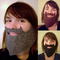 {Crafty} How to make a fake beard + DIY instructions + template