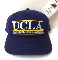 NEW rare vtg 90s UCLA BRUINS HAT Navy Blue The Game Snapback SemiCurved  Bill Men   8a7cce99ce64
