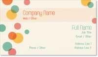 polka dots Standard Business Cards