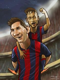 461. Illustration: Messi, Neymar [by @jmatheu93]
