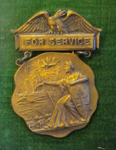 "WWI 1919 Military Medal ""For Service"" in the Great War"