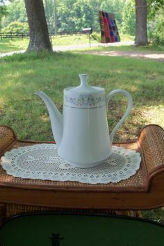 Teapot Royal Ming Floral Mid Century Everyday by AntiquesandVaria, $24.80