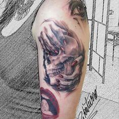 #Rikuturso #putkatattoos #skull #tattoo