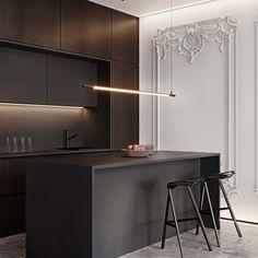 Kitchen Room Design, Kitchen Dinning, Interior Design Kitchen, Kitchen Decor, Modern Classic Interior, Luxury Interior, Küchen Design, House Design, Home Staging