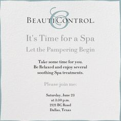 """""""Beauticontrol"""" Invitation, by BeautiControl, Paperless Post"""