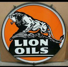 Mint Original Lion Oils Porcelain Sign