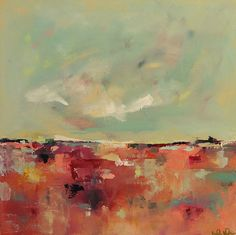 Colorful Abstract Landscape Original Acrylic Painting - Summer Love