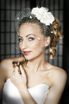 Rose with veil | Wedding Hats by Anna Mikhaylova, via Behance