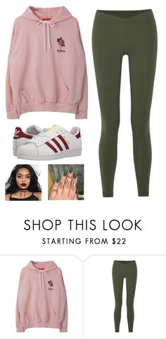 """""""Tuesday:@queen71304 Floral🌸😋"""" by the5muslimqueens ❤ liked on Polyvore featuring Live the Process and adidas Originals"""