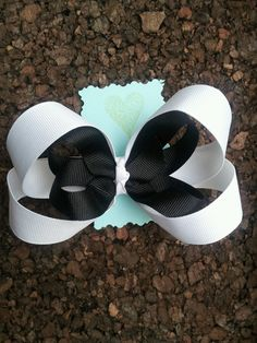 Black and White Bow by NotionsoftheHeart on Etsy, $9.50
