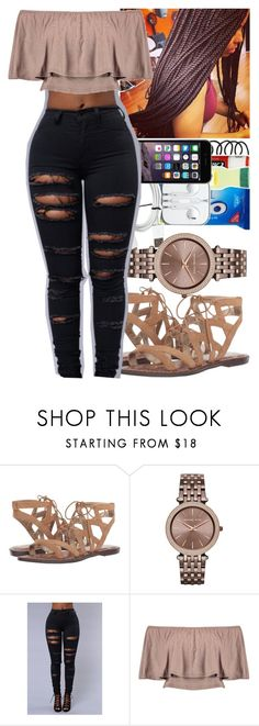 """Untitled #192"" by issaxmonea ❤ liked on Polyvore featuring Sam Edelman, Michael Kors and Boohoo"