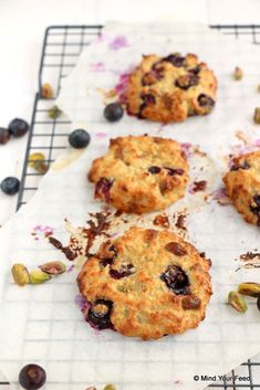 Blueberry oatmeal cookies - Mind Your Feed - blueberry oatmeal cookies - Low Carb Breakfast, Best Breakfast, Breakfast Recipes, Low Carb Desserts, Low Carb Recipes, Healthy Recipes, Healthy Baking, Healthy Snacks, Blueberry Oatmeal Cookies