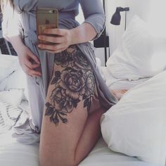 @EssenceAQ  Floral Hip Tattoo