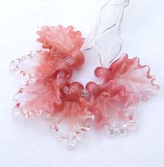 Lampwork Glass Leaves for Jewelry Making Set of by silviaizkovich, $25.99