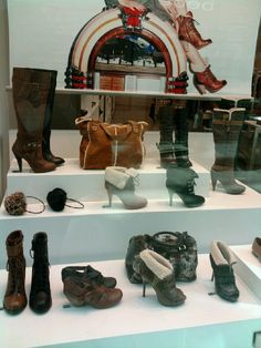I took this picture in a mall display outside of a store #shoes!