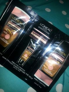 Loreal Paris smooth intense ultimate straight products from my influenster campus vox box!