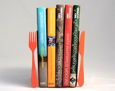 Fork and Spoon | 22 Bookends to Keep Your Books in Line