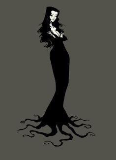 Beautiful Macabre Gothic Fantasy Surreal Art by AbigailLarson Morticia Addams, Gomez And Morticia, Vampires, Abigail Larson, Arte Sketchbook, Arte Horror, Surreal Art, Dark Art, Wicca