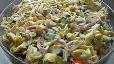 Ľahký a výborný cestovinový šalát so šunkou a kukuricou! Tortellini Salad, Pasta Salad, European Dishes, Cooking Recipes, Healthy Recipes, Side Salad, Easy Chicken Recipes, Fusilli, Recipes