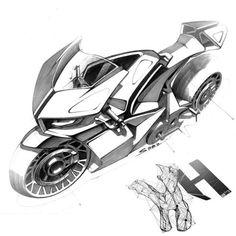 Motorcycle drawing