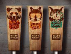 RuTT Beer Brewery via @Matty Chuah Dieline - Tap Handles