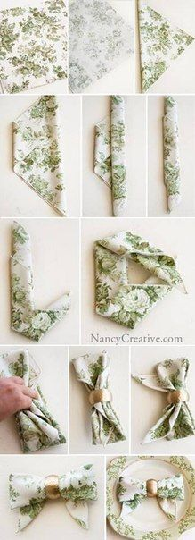 Fold the napkin in the bow (DIY)