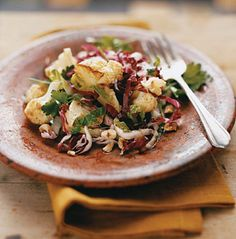 Roasted Cauliflower and Radicchio Salad recipe