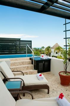 The Ocean View Penthouse feature an over-sized balcony with a private plunge pool. #Jetsetter